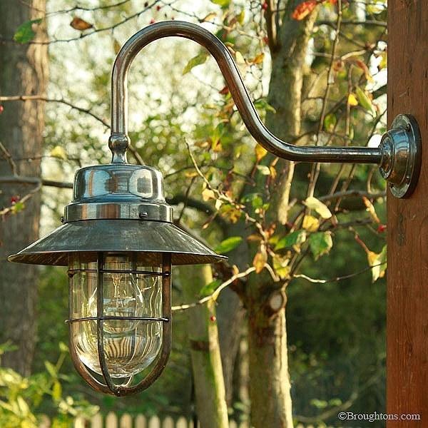 Inspiration about Wheelhouse Large Outdoor Wall Light Lantern Antique Brass Outdoor Inside Outdoor Big Lanterns (#14 of 15)