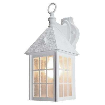 White – Cottage – Outdoor Wall Mounted Lighting – Outdoor Lighting With Regard To White Outdoor Lanterns (#8 of 15)