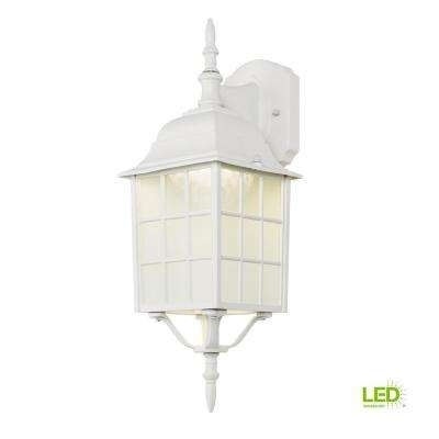Inspiration about White – Outdoor Lanterns – Integrated Led – Outdoor Wall Mounted Intended For White Outdoor Lanterns (#8 of 15)