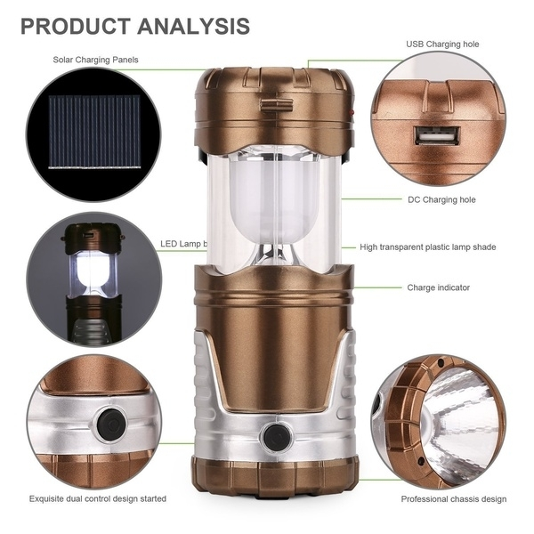 Wish | Camping Lantern Outdoor Lantern Flashlights Collapsible Solar Inside Outdoor Rechargeable Lanterns (View 14 of 15)