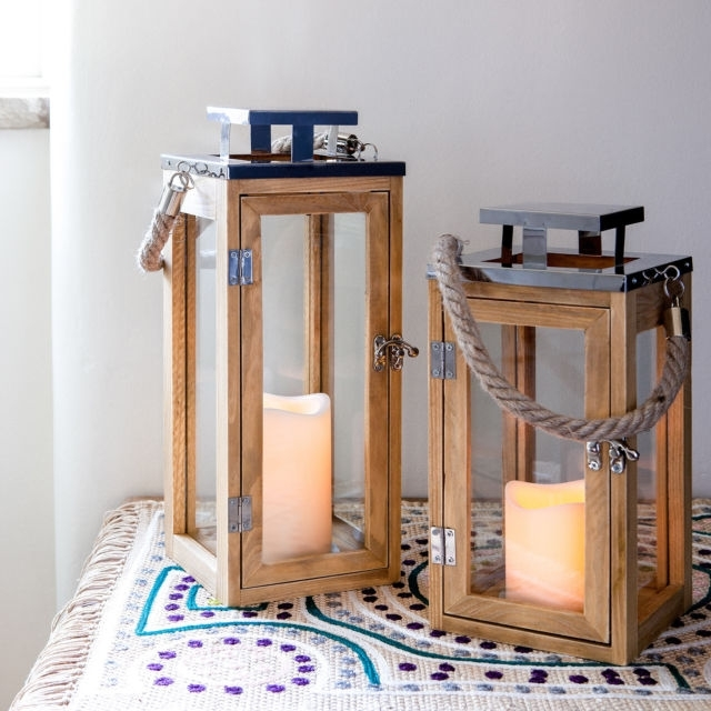 Inspiration about Wooden Battery Operated Led Flameless Candle Lantern For Indoor With Regard To Outdoor Lanterns With Battery Candles (#12 of 15)
