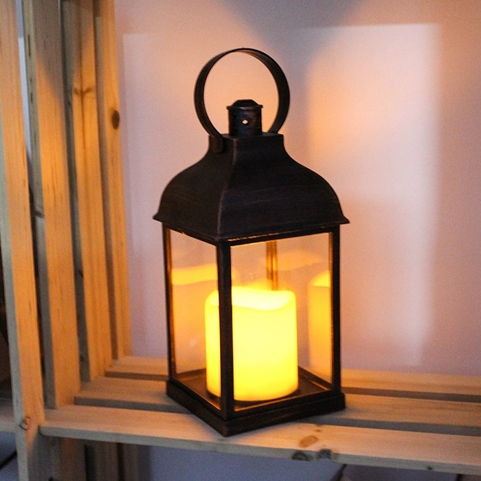 Wralwayslx Decorative Lanterns With Flameless Candles With Timer Within Outdoor Lanterns With Timers (View 14 of 15)