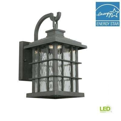 Wrought Iron – Outdoor Lanterns & Sconces – Outdoor Wall Mounted Throughout Zinc Outdoor Lanterns (#12 of 15)