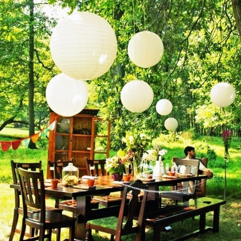 Zilue 10pcs/lot 6 16inch Chinese White Paper Lantern Home Decoration Throughout Outdoor Japanese Lanterns (View 14 of 15)