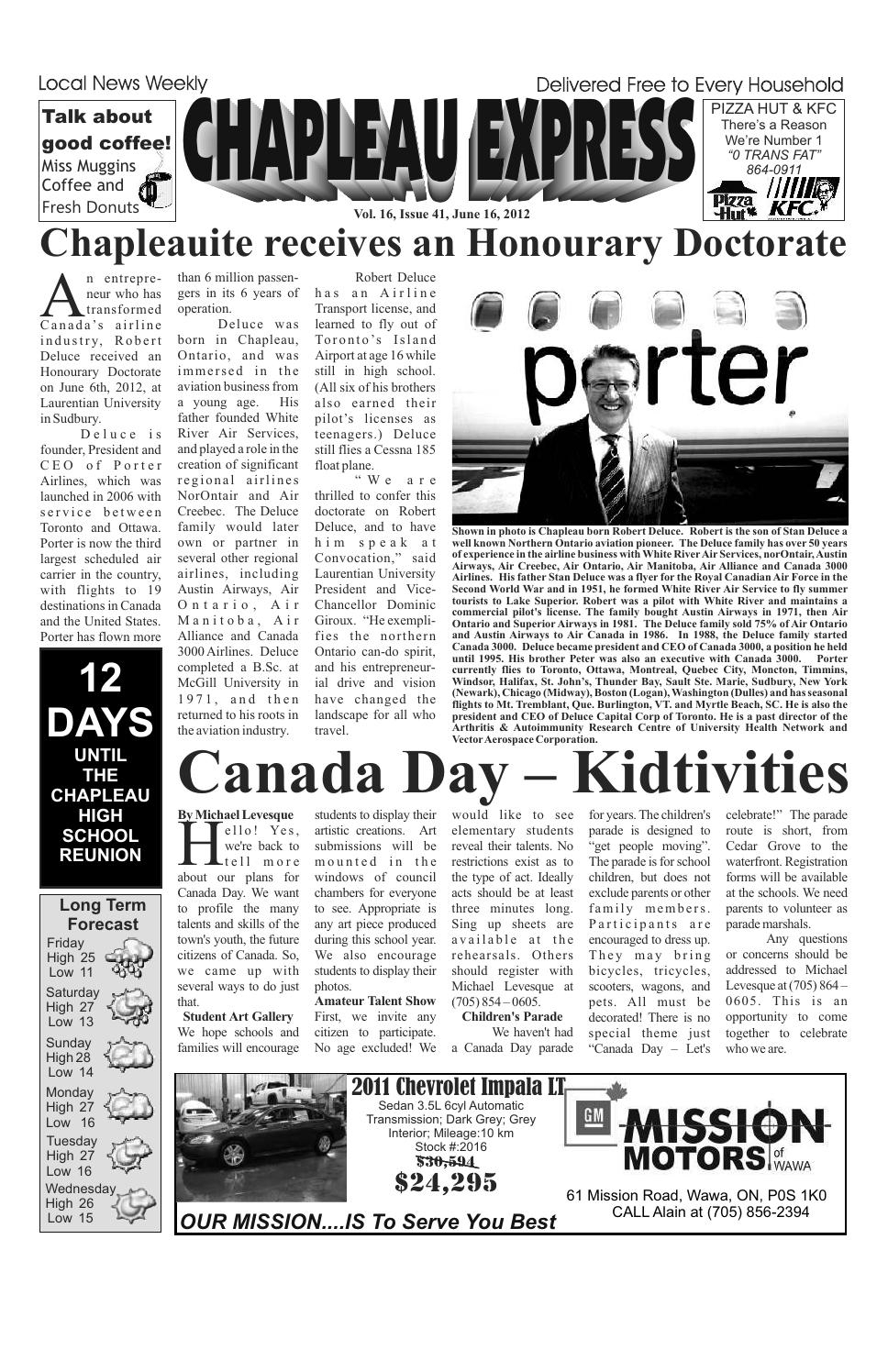 06162012 June 16 2012the Chapleau Express – Issuu For 2018 Chapleau Ii Arm Chairs (View 16 of 20)