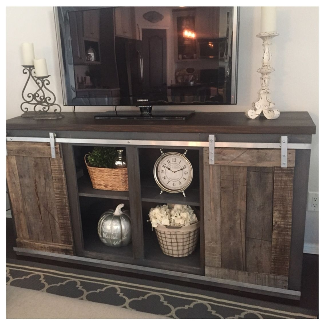 Inspiration about 17 Diy Entertainment Center Ideas And Designs For Your New Home Pertaining To Recent Reclaimed Elm 91 Inch Sideboards (#20 of 20)