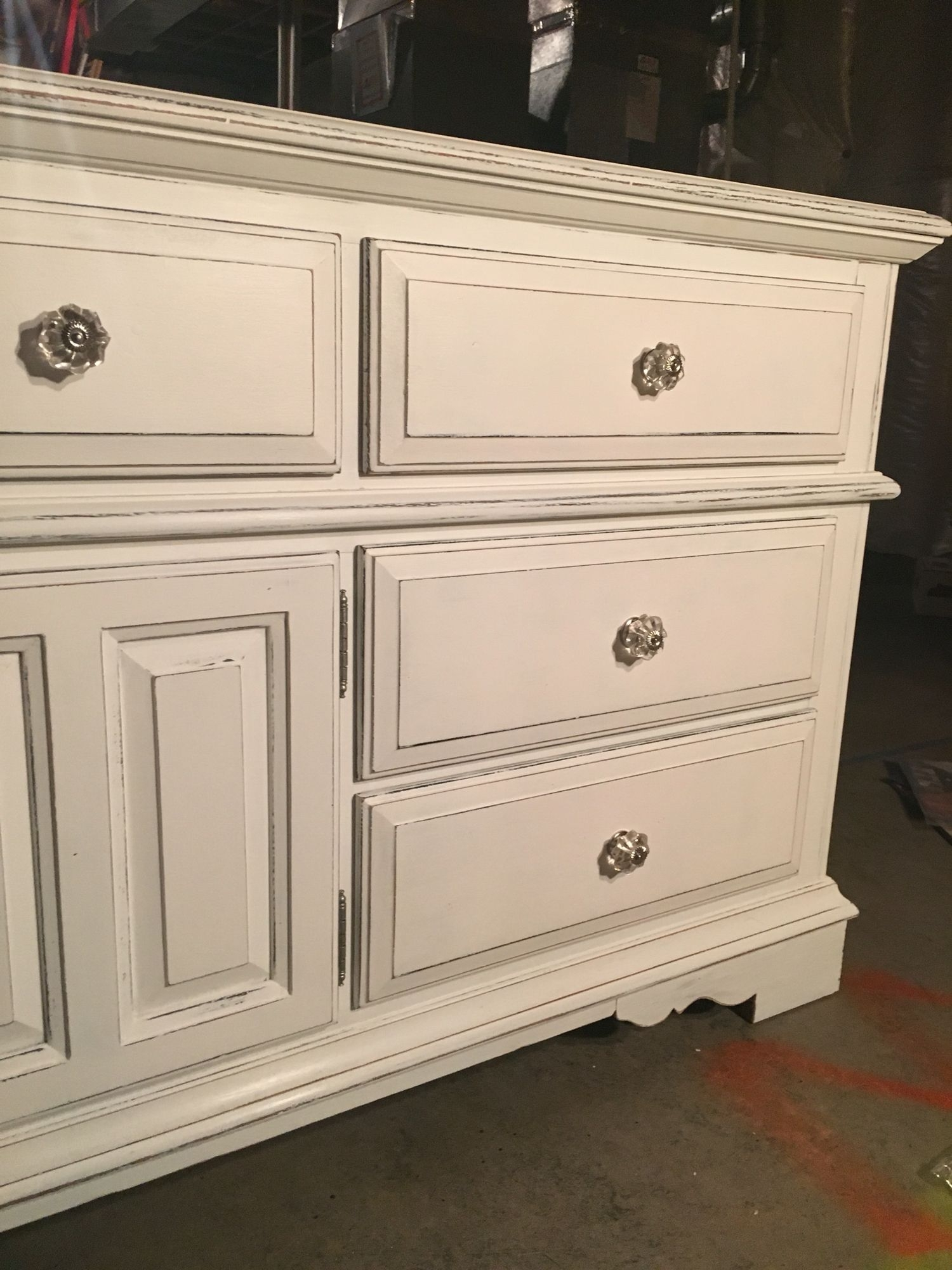 Inspiration about 20 Year Old Broyhill Oak Dresser Painted With Black Chalk Paint Then For Most Recently Released Satin Black & Painted White Sideboards (#4 of 20)