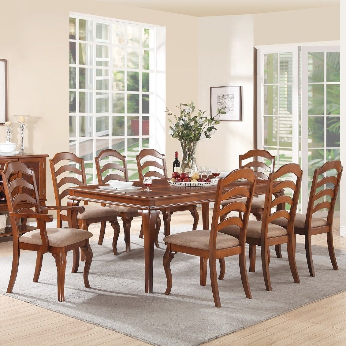 Inspiration about 2018 Alcott Hill Gunner 9 Piece Dining Set & Reviews (#19 of 20)