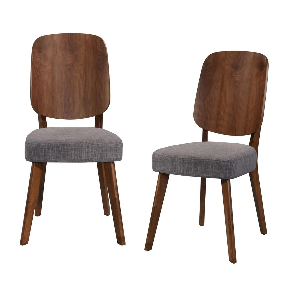 2018 Burton Metal Side Chairs With Wooden Seat Pertaining To Handy Living Georgetown Armless Dining Side Chair With Wood Paddle (#1 of 20)