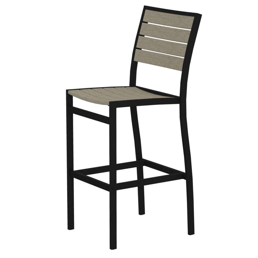 2018 Delfina Side Chairs With Polywood Euro Textured Black All Weather Aluminum/plastic Outdoor (#1 of 20)