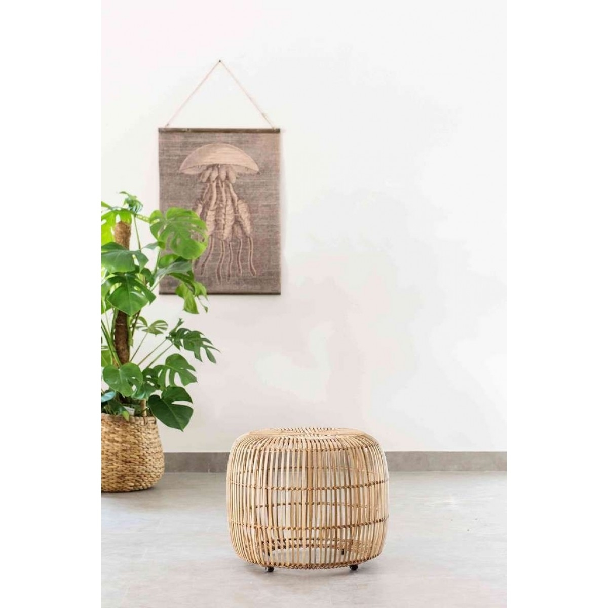 2018 Natural Rattan Metal Chairs Pertaining To Olivia Rattan Stool Natural (View 18 of 20)