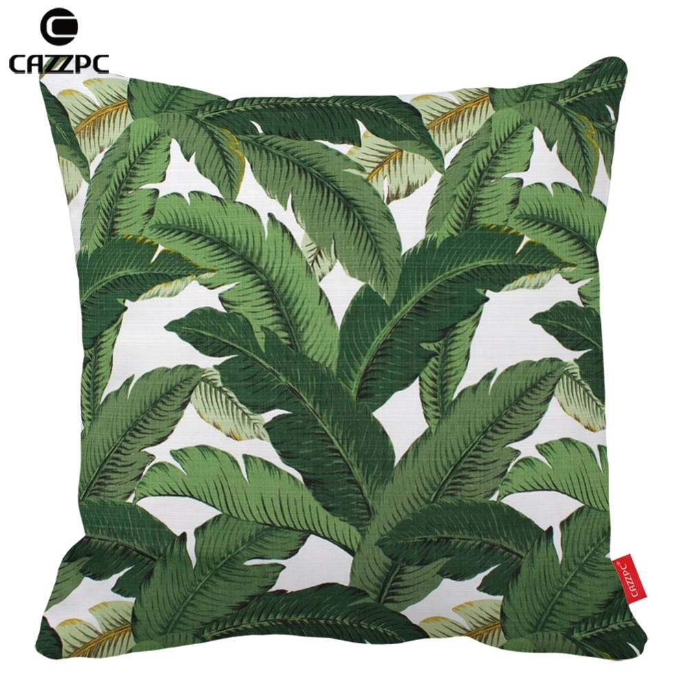 2019 Hawaiian Garden Tropical Banana Leaves Palm Leaf Print Custom Car Regarding Banana Leaf Chairs With Cushion (#2 of 20)