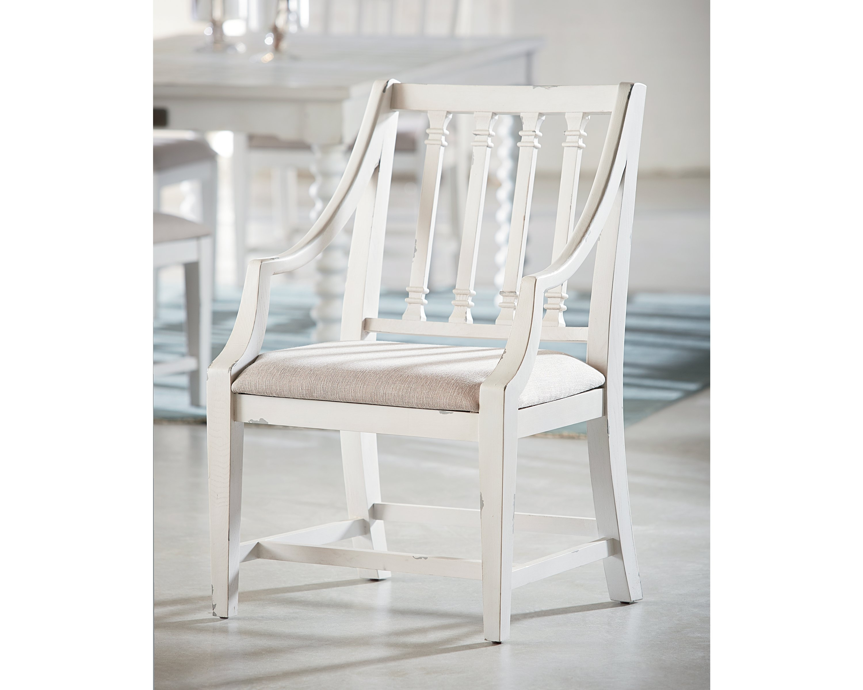 Inspiration about 2019 Magnolia Home Revival Jo's White Arm Chairs Regarding Revival Arm Chair – Magnolia Home (#5 of 20)