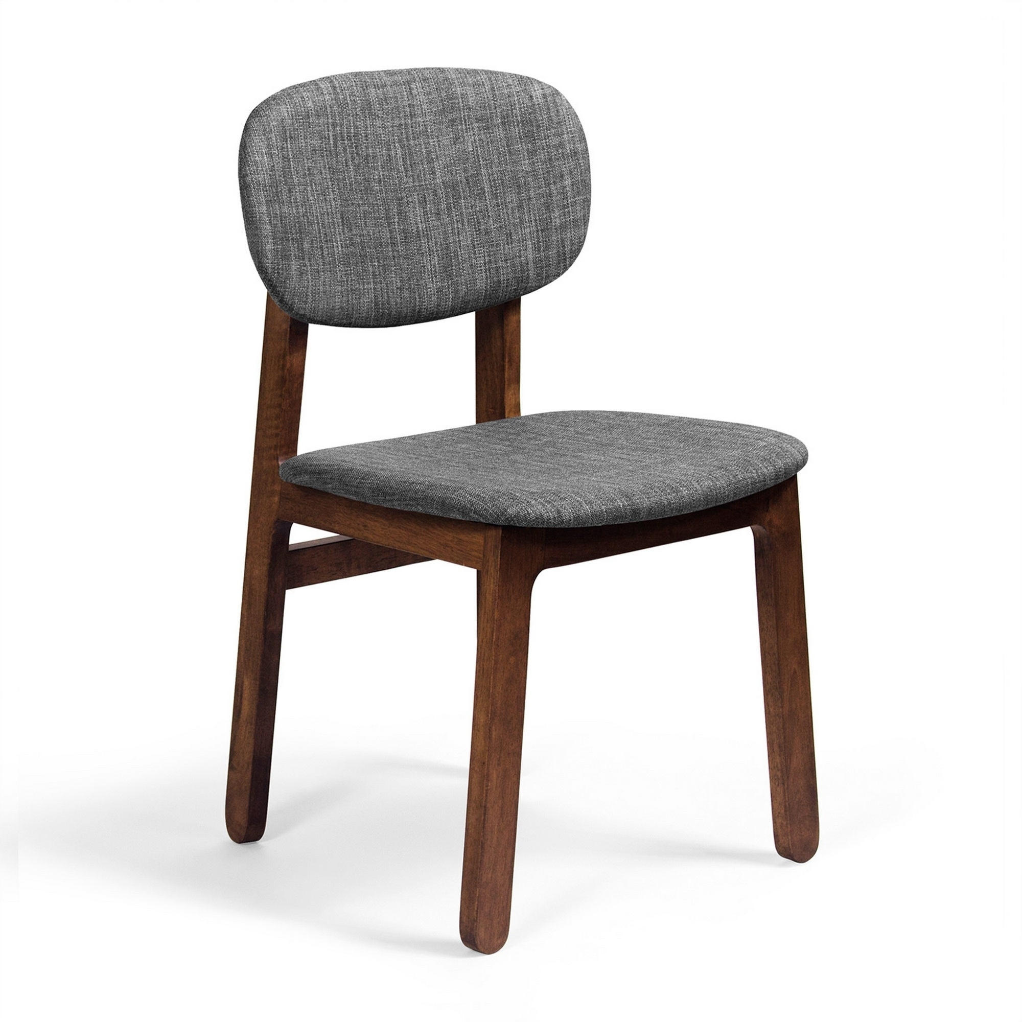 Inspiration about 2Pc Set Rockwell Side Chair  Walnut/grey (Ae448 Walnut Grey)Aeon For Fashionable Jaxon Grey Wood Side Chairs (#19 of 20)