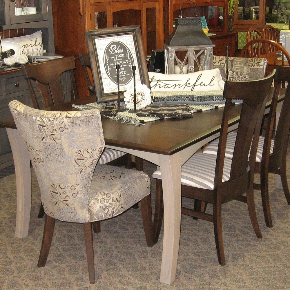 "48"" X 72"" Chandler Dining Table With 4 12"" Leaves, Set Includes 4 In 2019 Chandler Fabric Side Chairs (#1 of 20)"