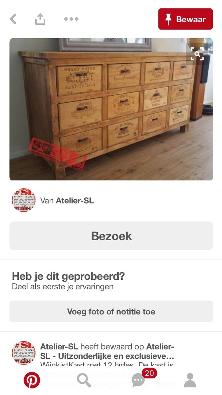 Inspiration about 9 Best Wijnkisten Creaties Images On Pinterest | Wine Cellars Intended For Most Up To Date Leven Wine Sideboards (#15 of 20)