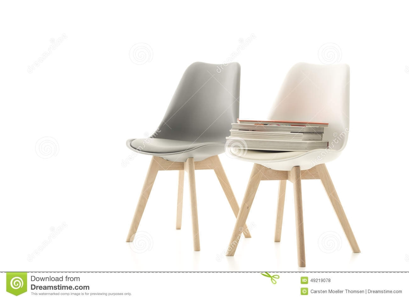 A Matching Grey And White Modern Chair Stock Photo – Image Of Design Intended For Popular Pilo Grey Side Chairs (#2 of 20)