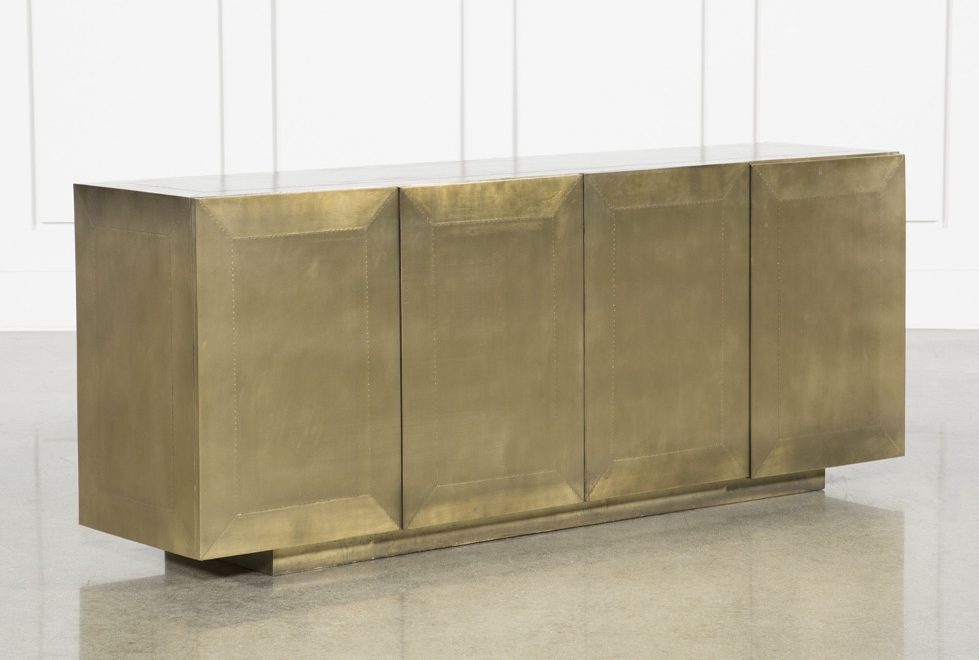 Aged Brass Sideboard, Gold | Products Inside Recent Aged Brass Sideboards (View 5 of 20)