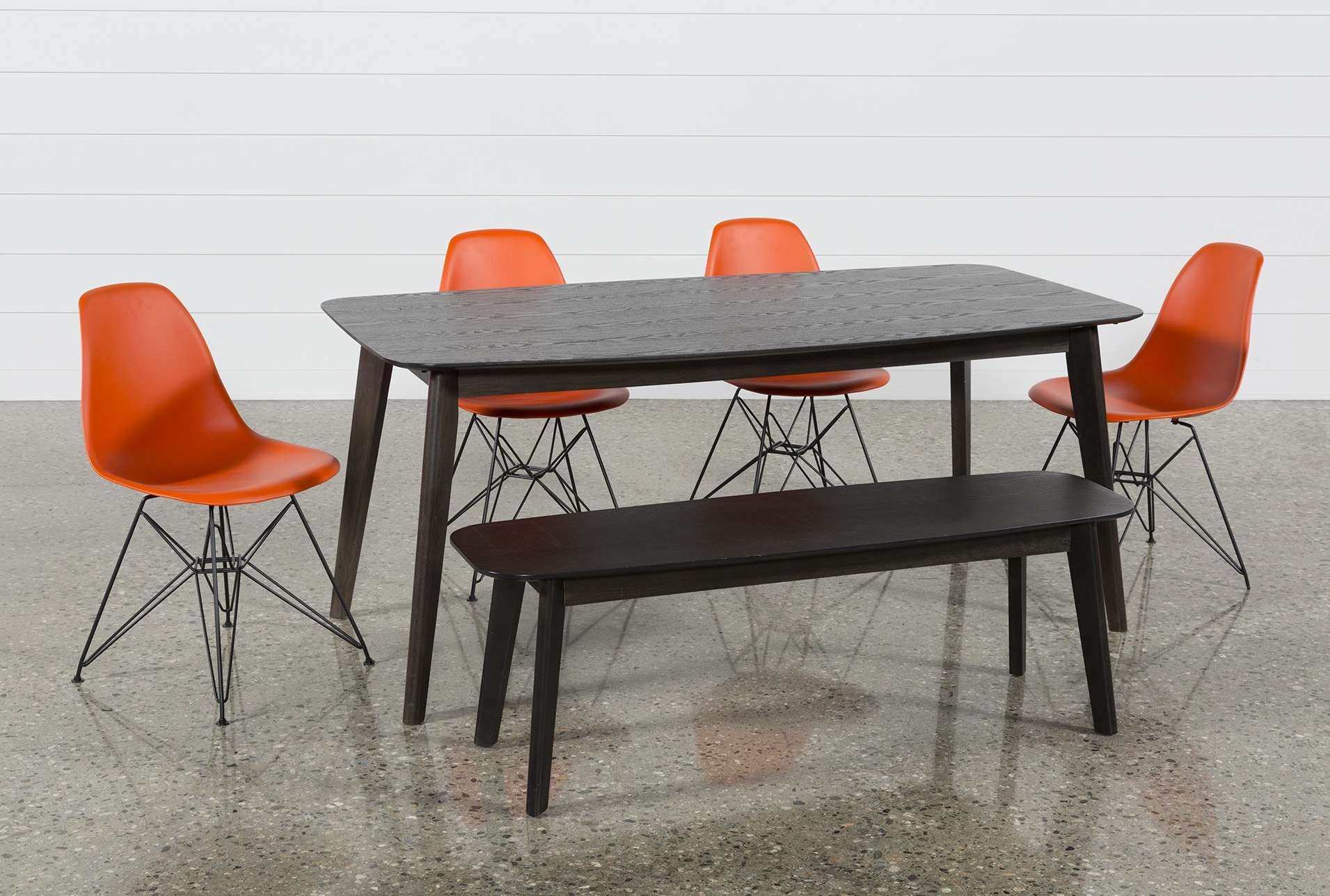 Alexa Firecracker Side Chairs Within Best And Newest Swift 6 Piece Rectangular Dining Set With Alexa Firecracker Side Chairs (View 8 of 20)