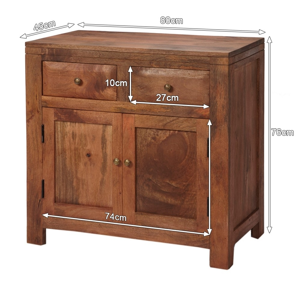 Alwar Mango Light Solid Wood Sideboard With 2 Drawers Pertaining To Current Mango Wood 2 Door/2 Drawer Sideboards (#1 of 20)