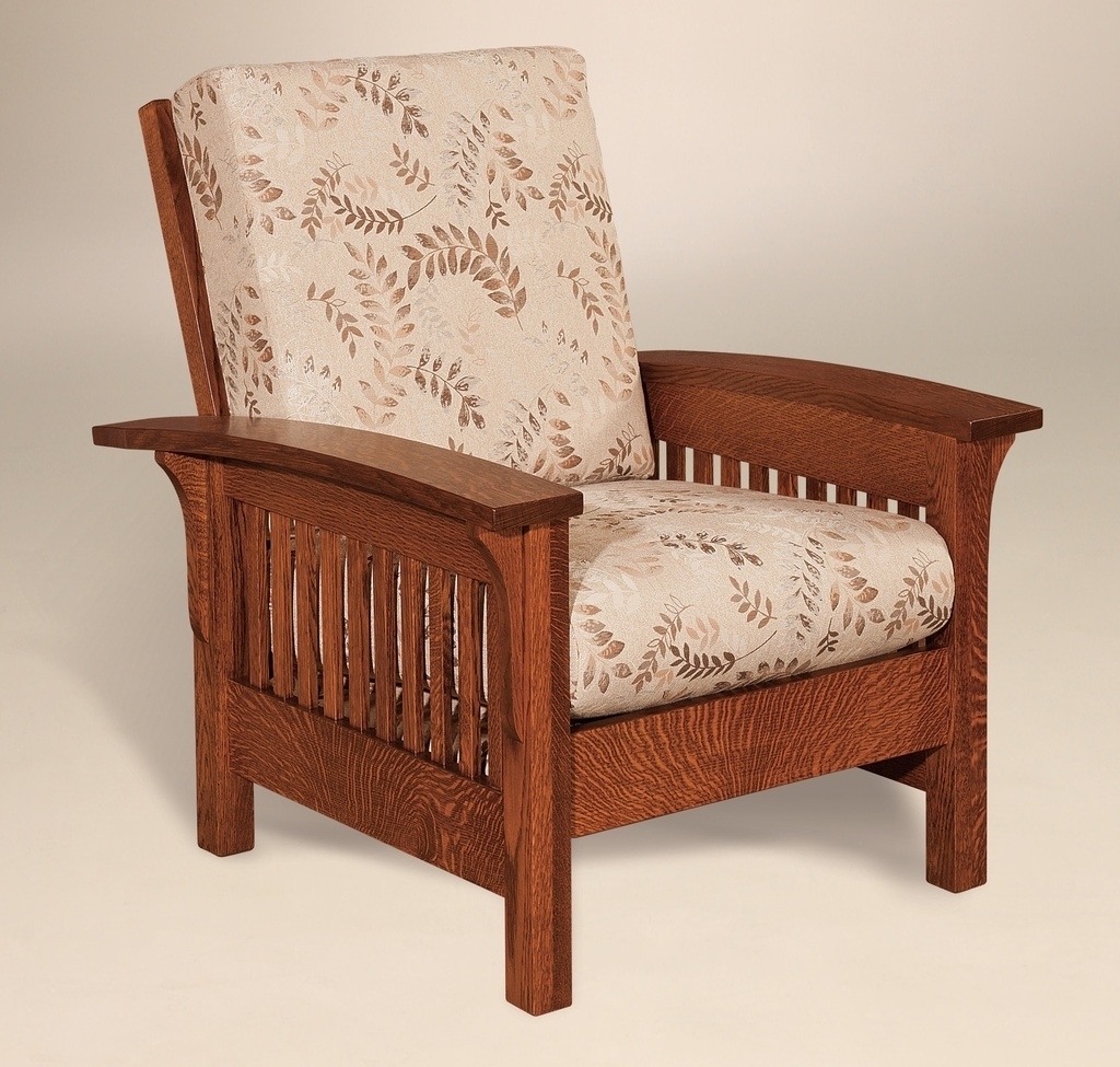 Amish Handcrafted Mission Craftsman Accent Chair Empire Upholstered In Latest Craftsman Upholstered Side Chairs (#2 of 20)