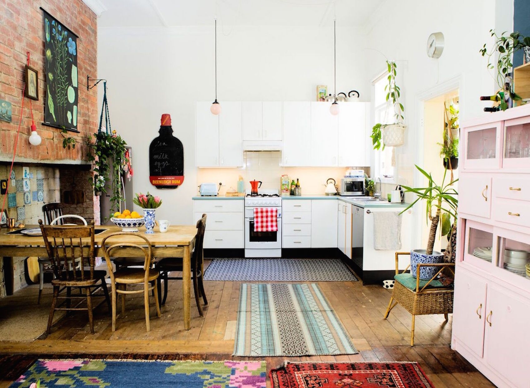 An Eclectic Artist's Home In Melbourne Brings In Light And Color Within Newest Garten Delft Skirted Side Chairs Set Of  (#2 of 20)