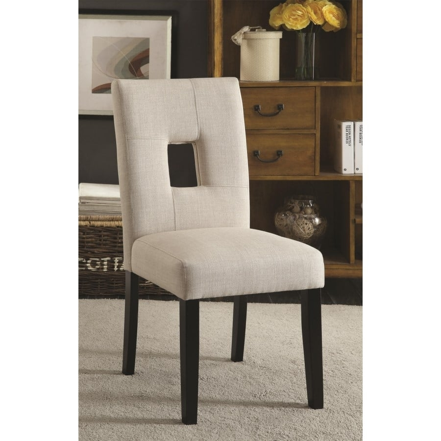 Andenne Upholstered Side Chair With Square Cutout In Seat Back Pertaining To Best And Newest Omni Side Chairs (#1 of 20)