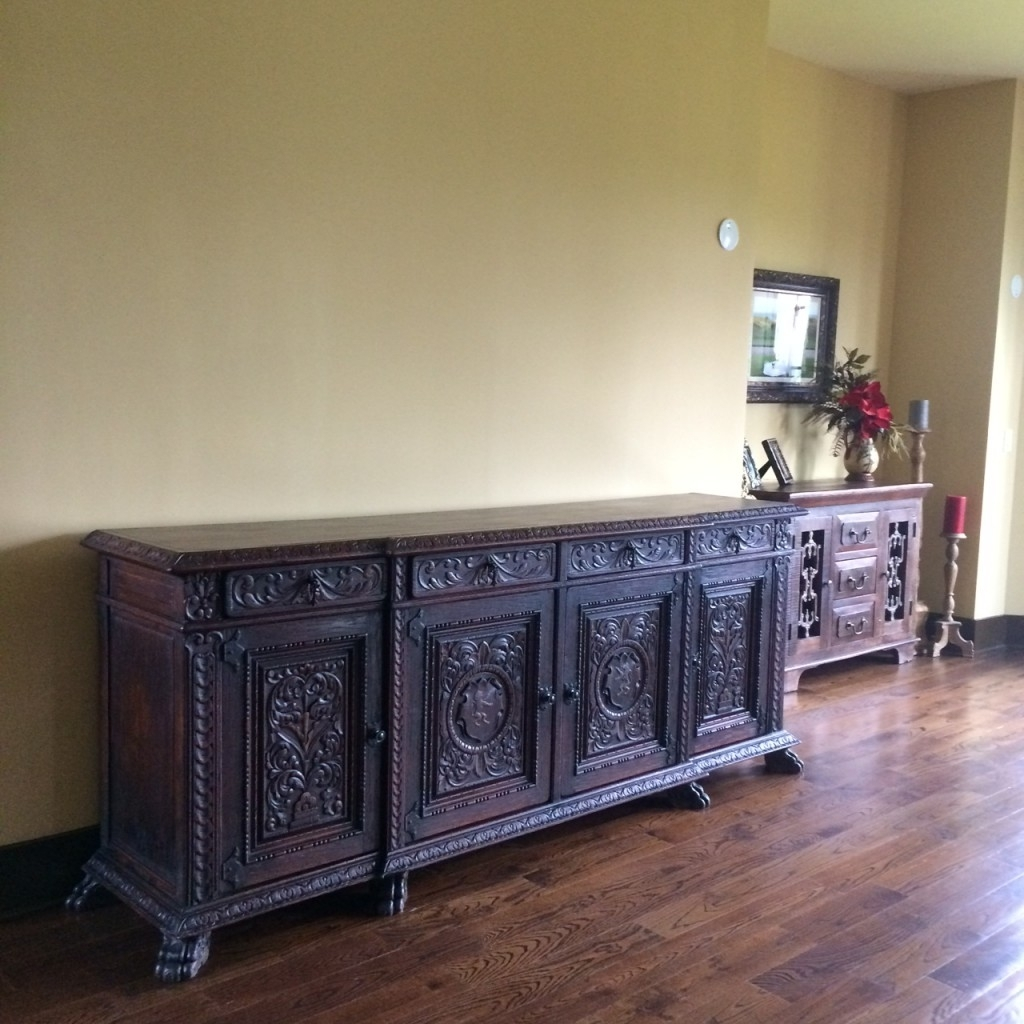 Antique Sideboard Buffet In Our Home — Rocket Uncle Rocket Uncle Within Current Vintage 8 Glass Sideboards (View 11 of 20)