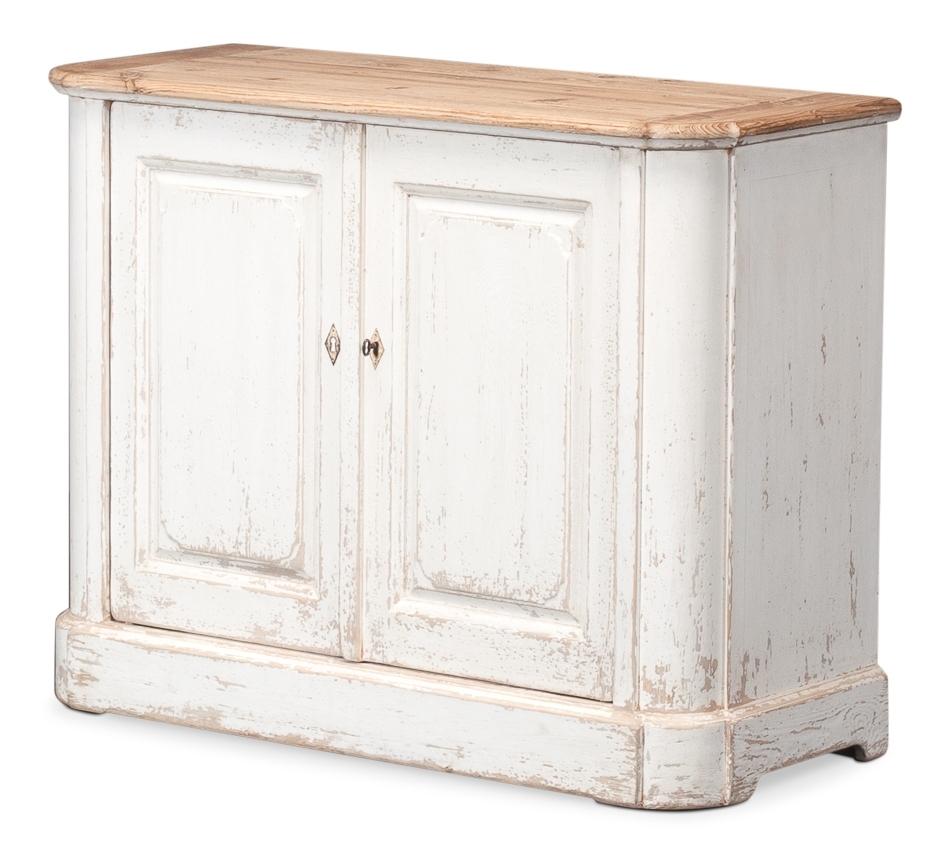 Antique White Wash Sideboard, 2 Door , Sarreid Ltd Portal ! | Your With Recent 2 Door White Wash Sideboards (View 4 of 20)