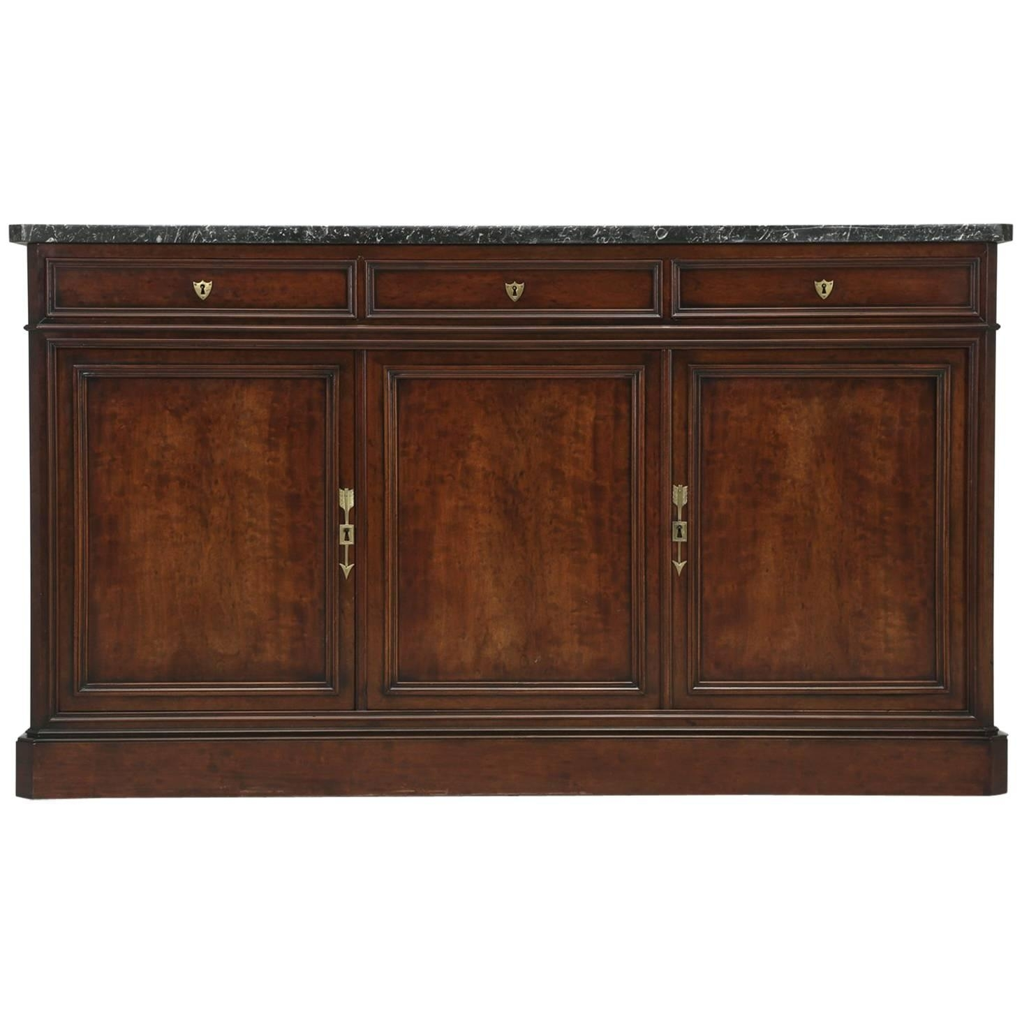 Antique Wood Sideboard With Parquet Top For Sale At 1Stdibs With Regard To 2017 Parquet Sideboards (#2 of 20)
