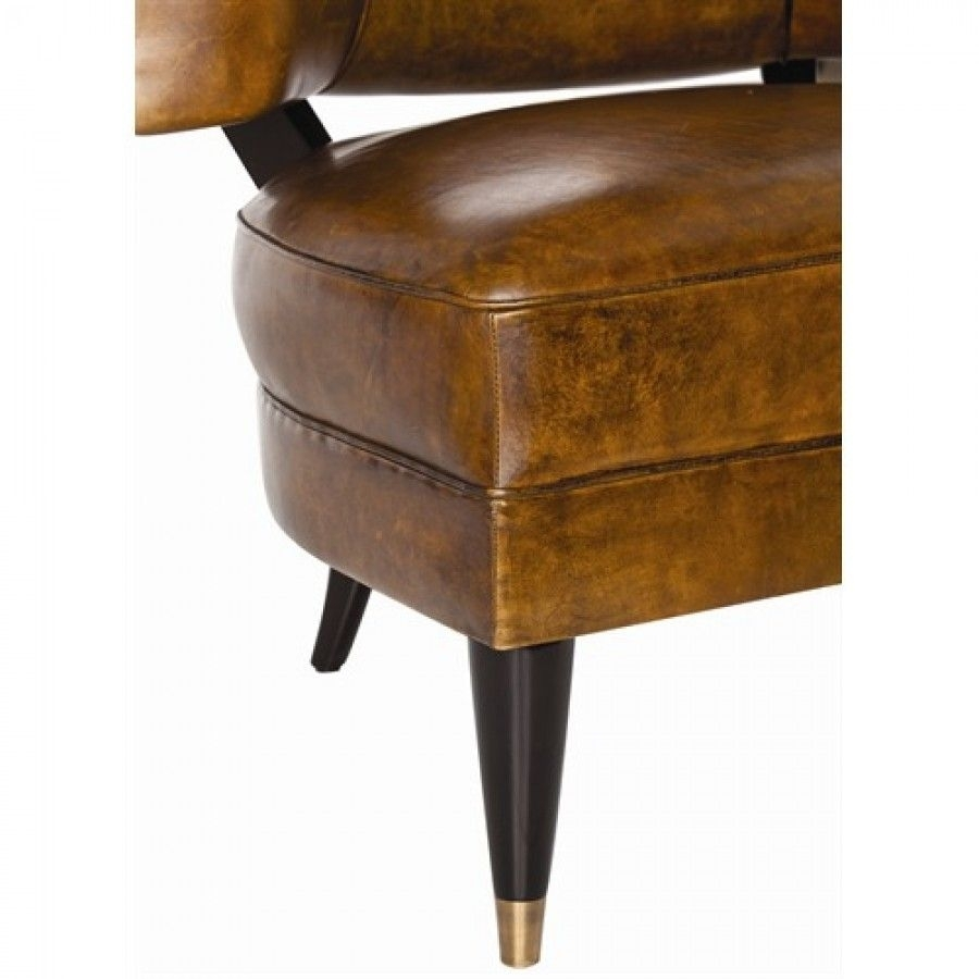 Arteriors Home Laurent Glazed Top Grain / Solid Wood Chair Leather Within 2019 Laurent Wood Side Chairs (View 3 of 20)