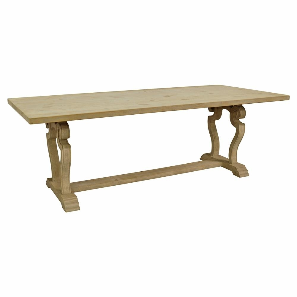 Artois French Country Carved Base Rectangular Dining Table | Kathy In Recent Palazzo 87 Inch Sideboards (#1 of 20)