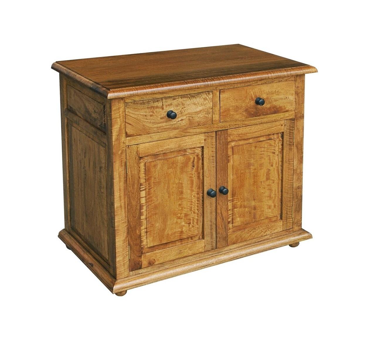 Asian Solid Mango Wood Small 2 Door Sideboard | Oak Furniture Uk With Most Recently Released Mango Wood 2 Door/2 Drawer Sideboards (#2 of 20)