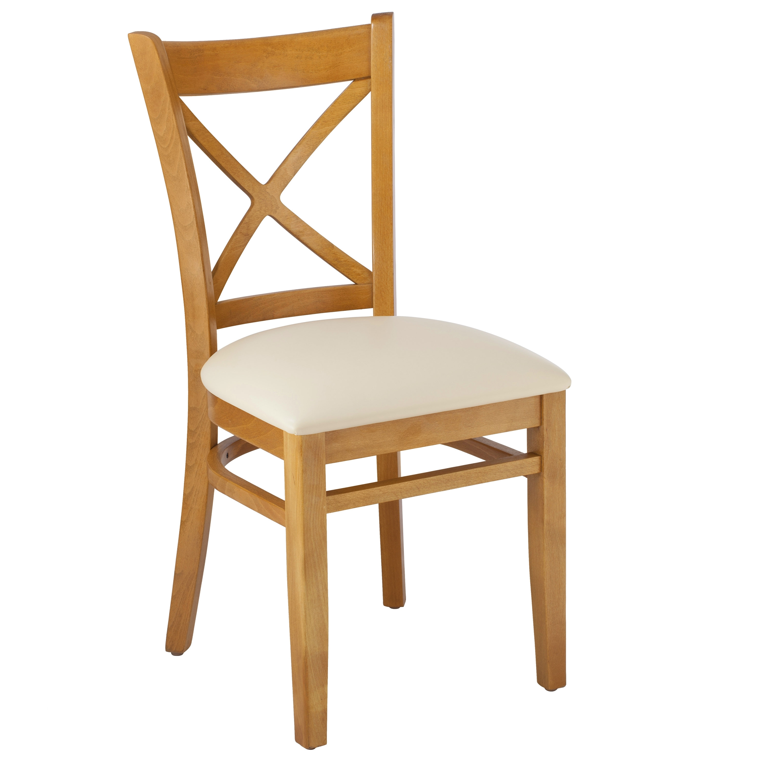 August Grove Helms Cross Back Solid Wood Dining Chair (#1 of 20)