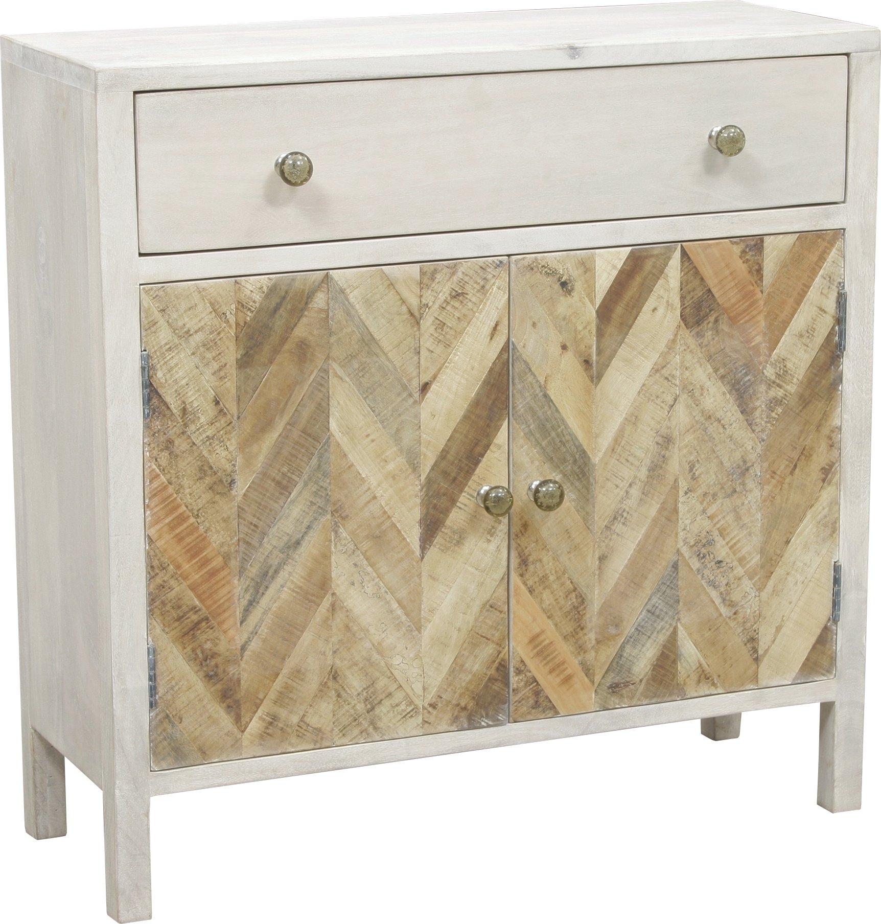 August Grove Islemade 1 Drawer 2 Door Cabinet | Wayfair Throughout Most Popular Burn Tan Finish 2 Door Sideboards (#3 of 20)