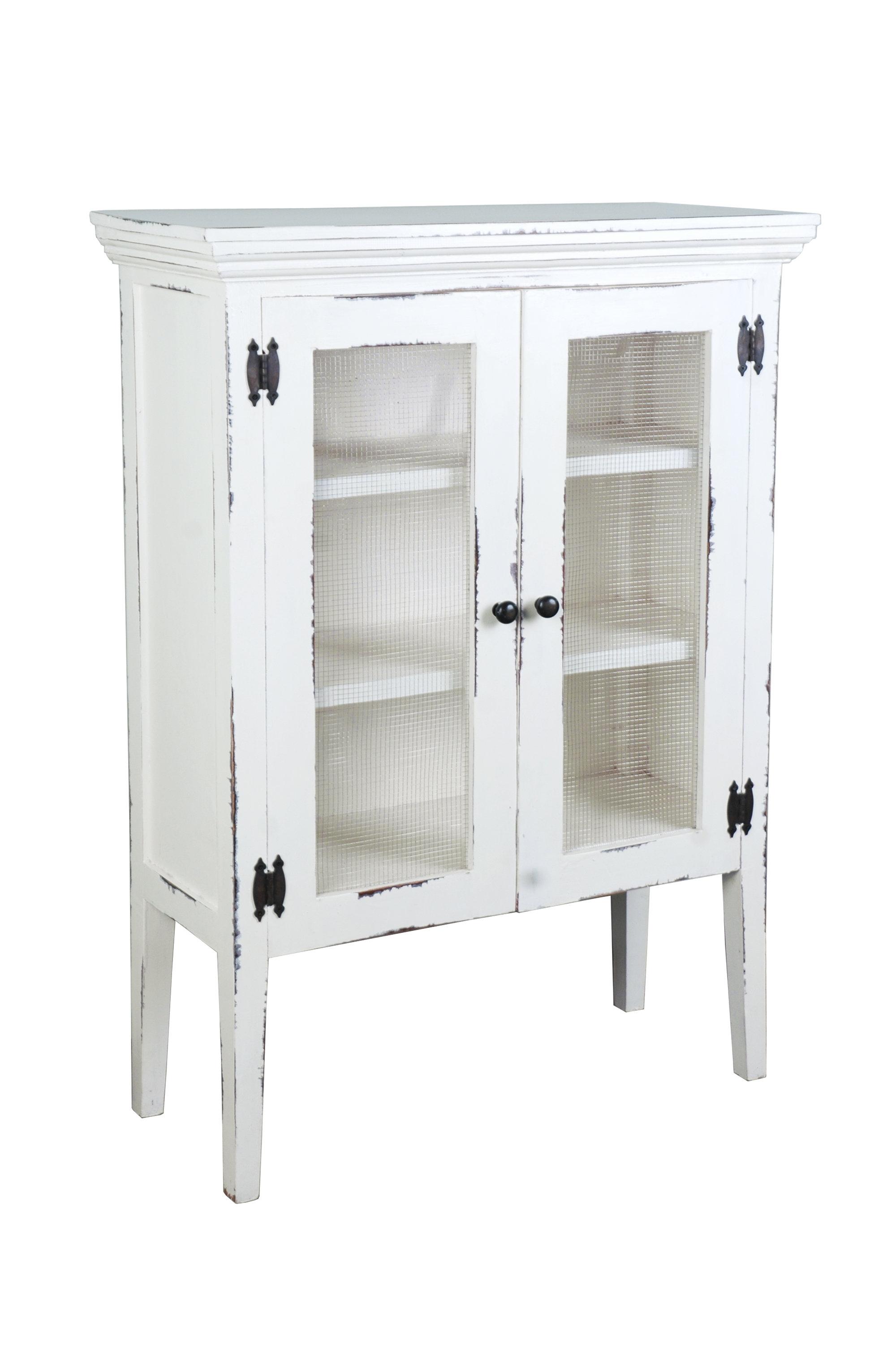 August Grove Luz 2 Door Accent Cabinet   Wayfair Inside Most Recently Released White Wash 4 Door Galvanized Sideboards (View 18 of 20)