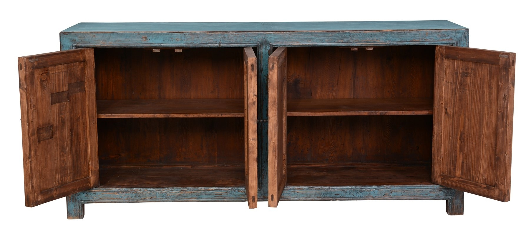 August Grove Mahoning Reclaimed Pine 4 Door Sideboard & Reviews In Best And Newest Reclaimed Pine Turquoise 4 Door Sideboards (View 6 of 20)