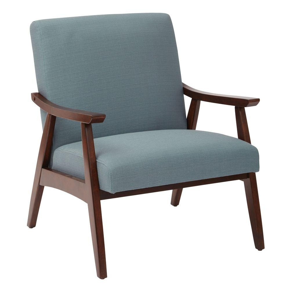 Ave Six Davis Klein Sea Fabric Arm Chair Dvs51 K21 – The Home Depot Intended For Fashionable Cora Ii Arm Chairs (View 9 of 20)