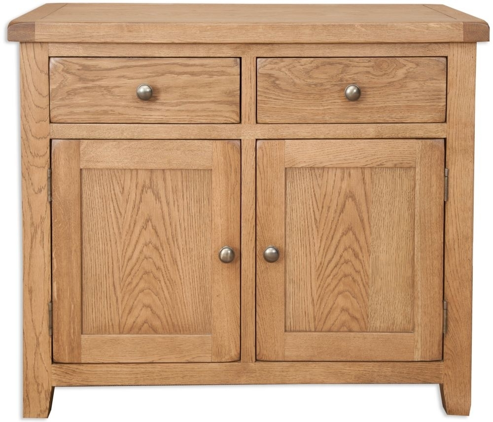 Bayamo Country Oak 2 Door 2 Drawer Sideboard In Best And Newest 2 Drawer Sideboards (#3 of 20)