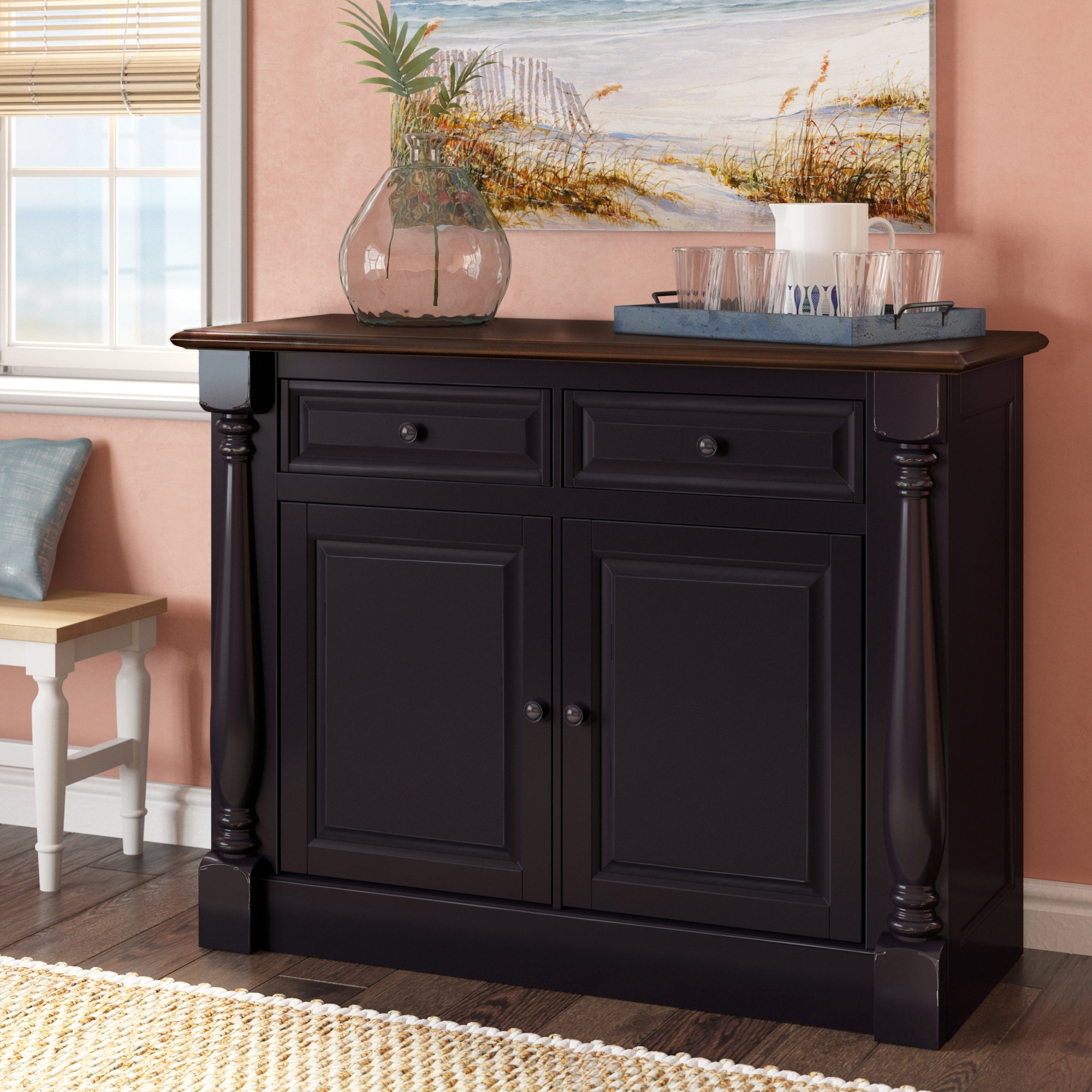 Beachcrest Home Kivalina Server & Reviews | Wayfair Intended For Most Recently Released Calhoun Sideboards (View 19 of 20)