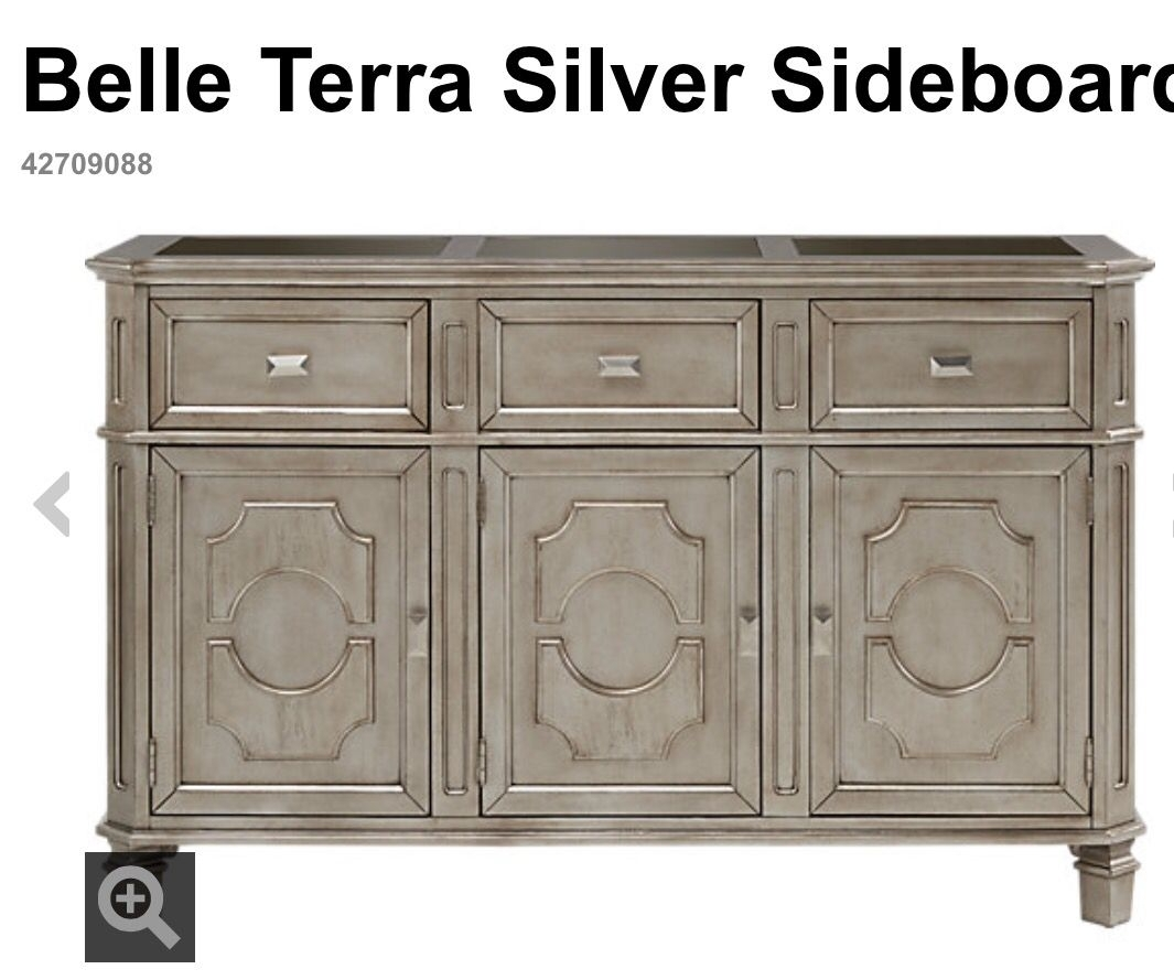 Belle Terra Silver Buffet / Sideboard From Rooms To Go | Dining Room Regarding Most Current Cass 2 Door Sideboards (View 11 of 20)