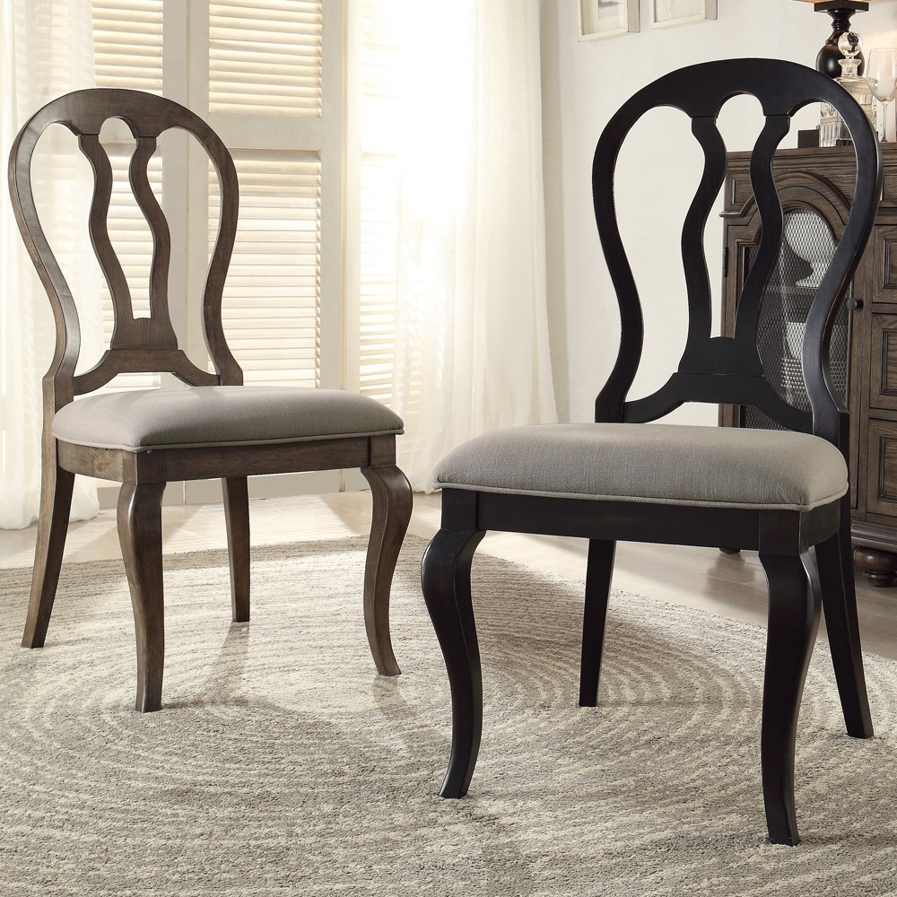 Belmeade Side Chairs In Favorite Belmeade Queen Ann Upholstered Side Chairriverside – Lewis (#3 of 20)