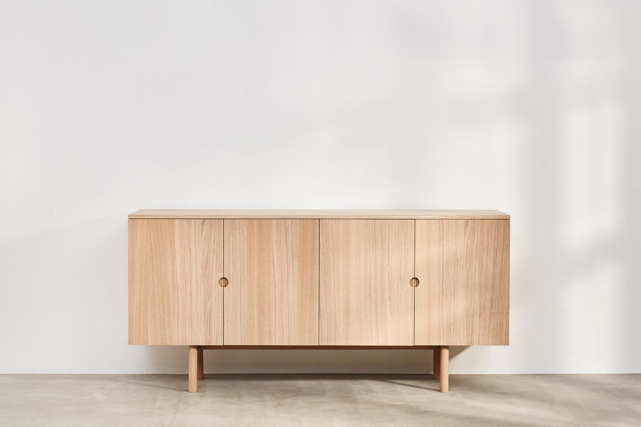 Benchmark Ovo Sideboard 4 Door Oak | Benchmark – Storage | Pinterest Intended For Most Current Oil Pale Finish 4 Door Sideboards (View 7 of 20)
