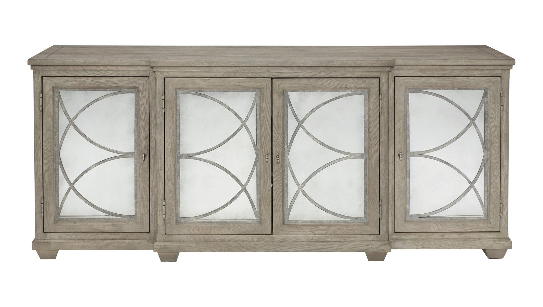 Bernhardt, Marquesa Sideboard – Antique Mirror, Buy Online At Luxdeco Inside Most Current Aged Mirrored 4 Door Sideboards (#4 of 20)