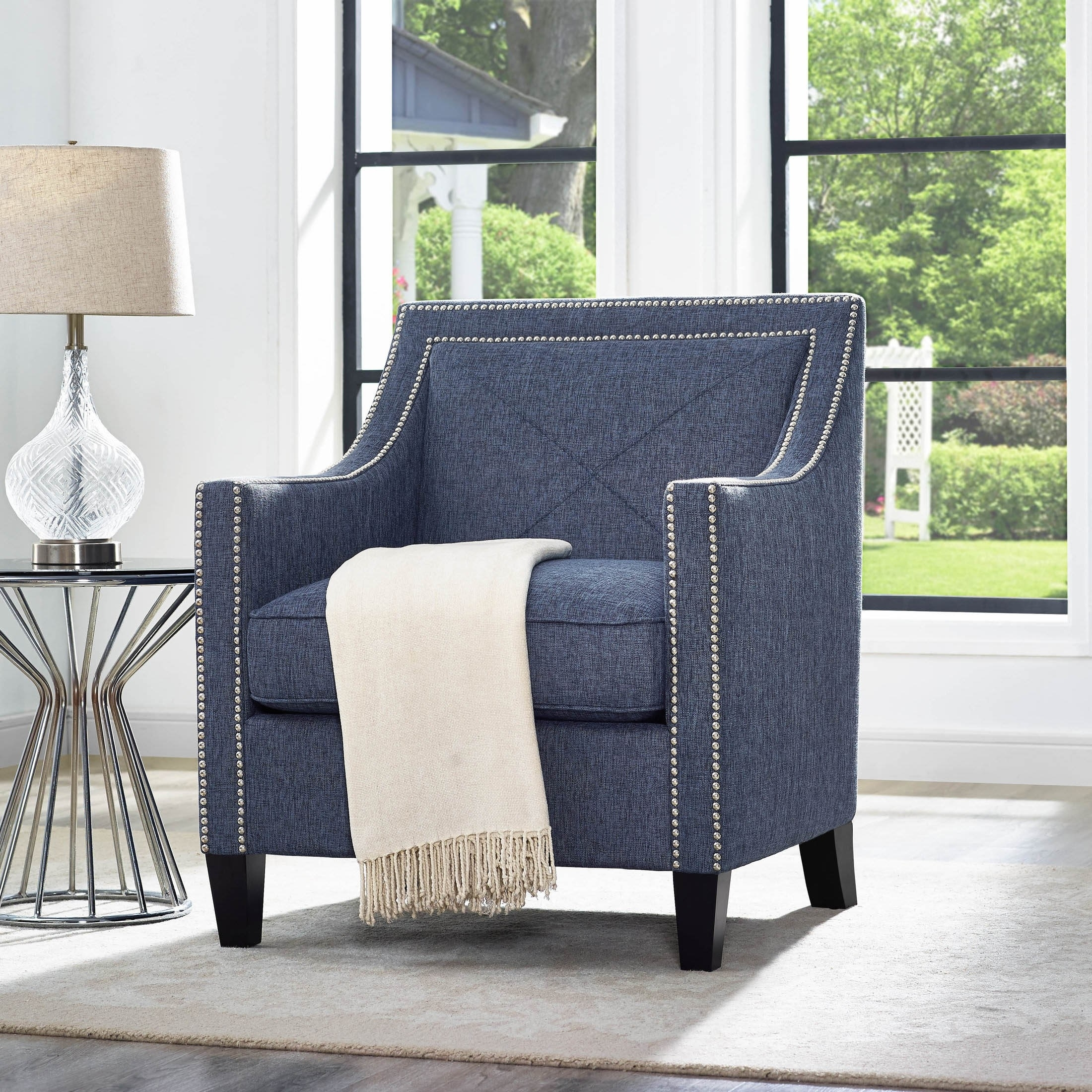 Best And Newest Bardstown Side Chairs Regarding Bardstown Blue Accent Chair – Accent Chairs (Blue) (#8 of 20)