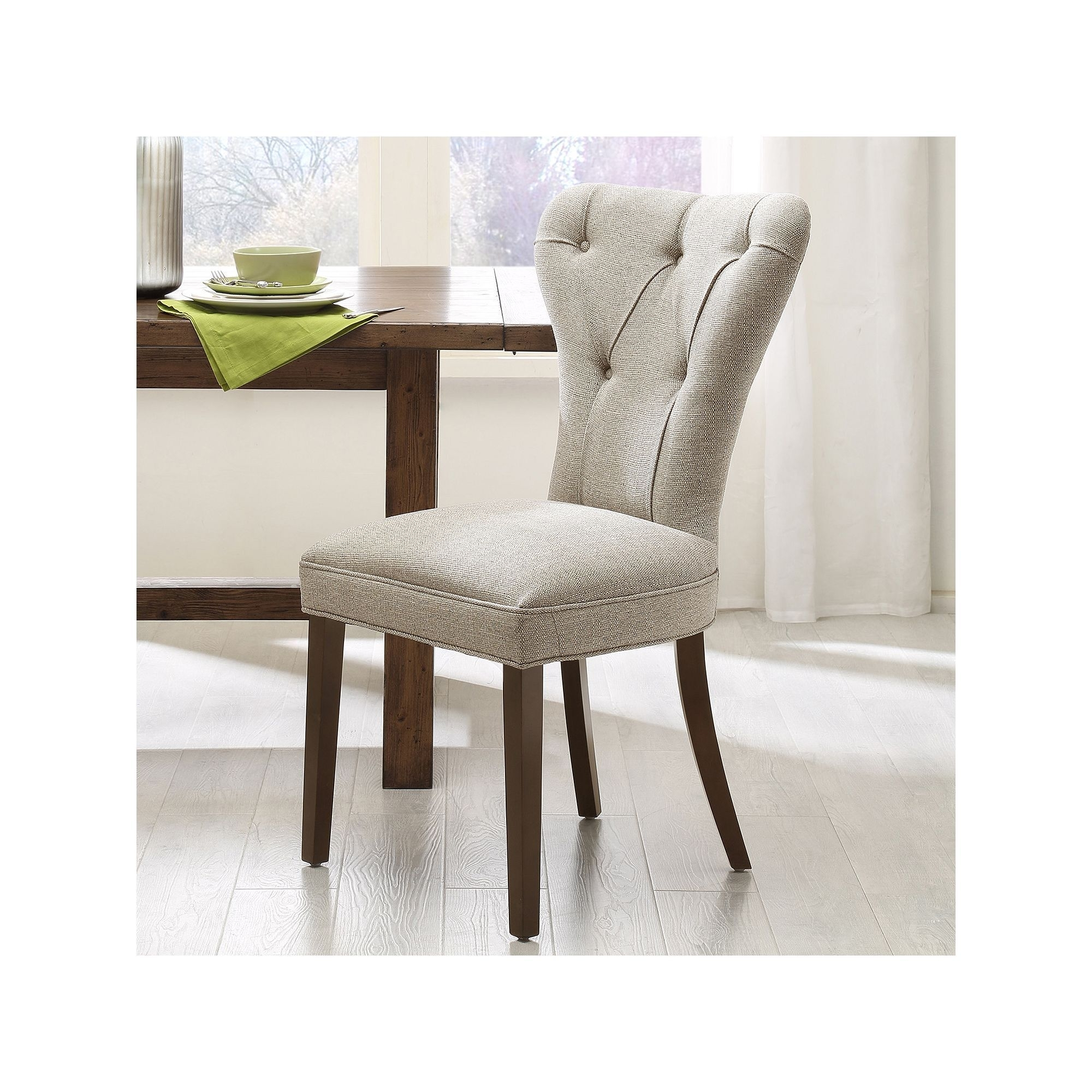 Best And Newest Caden Upholstered Side Chairs Regarding Madison Park 2 Piece Jocelyn Dining Chair Set, Beig/green (Beig (#2 of 20)