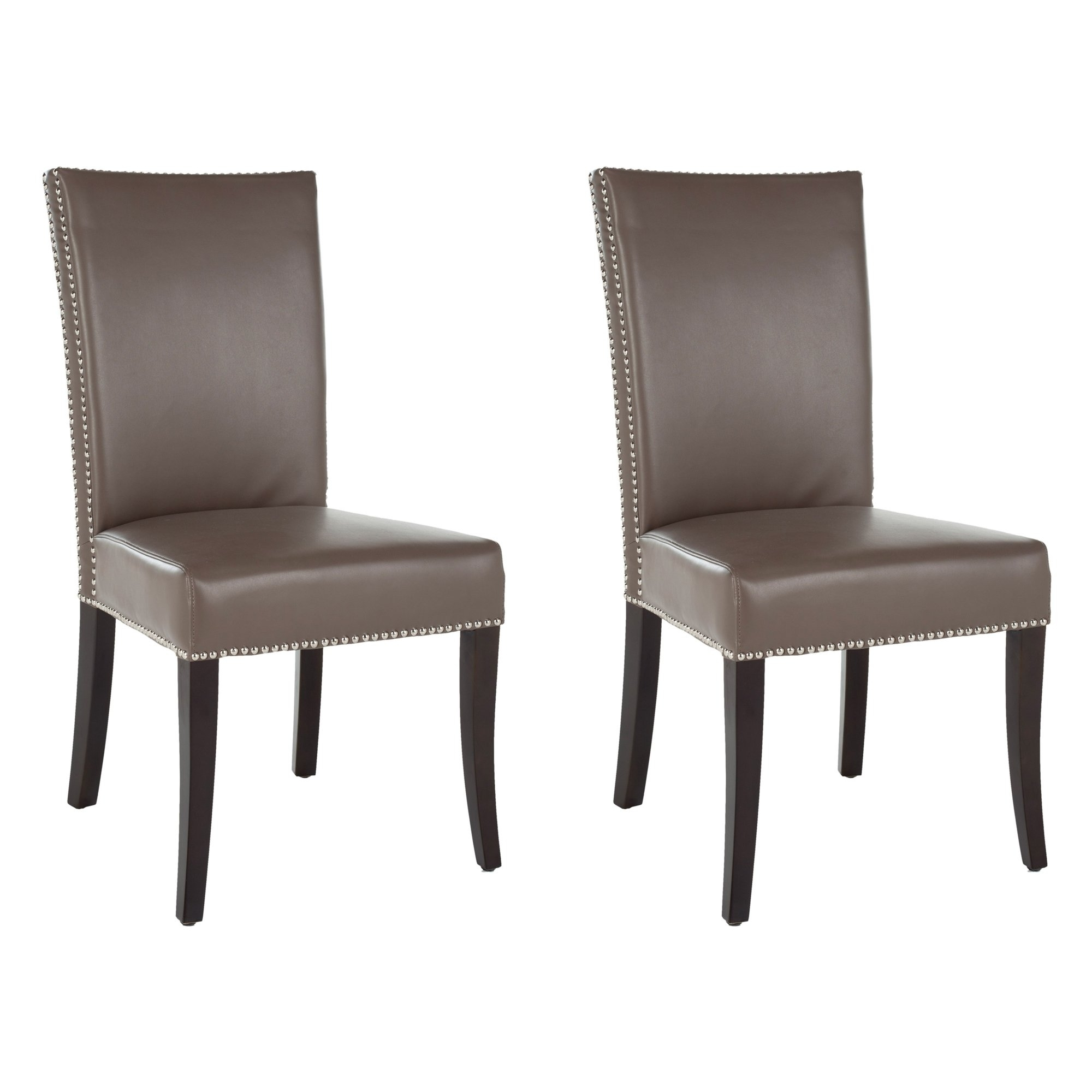 Best And Newest Clay Side Chairs For Shop Safavieh En Vogue Dining Metro Clay Leather Dining Chairs (Set (#2 of 20)