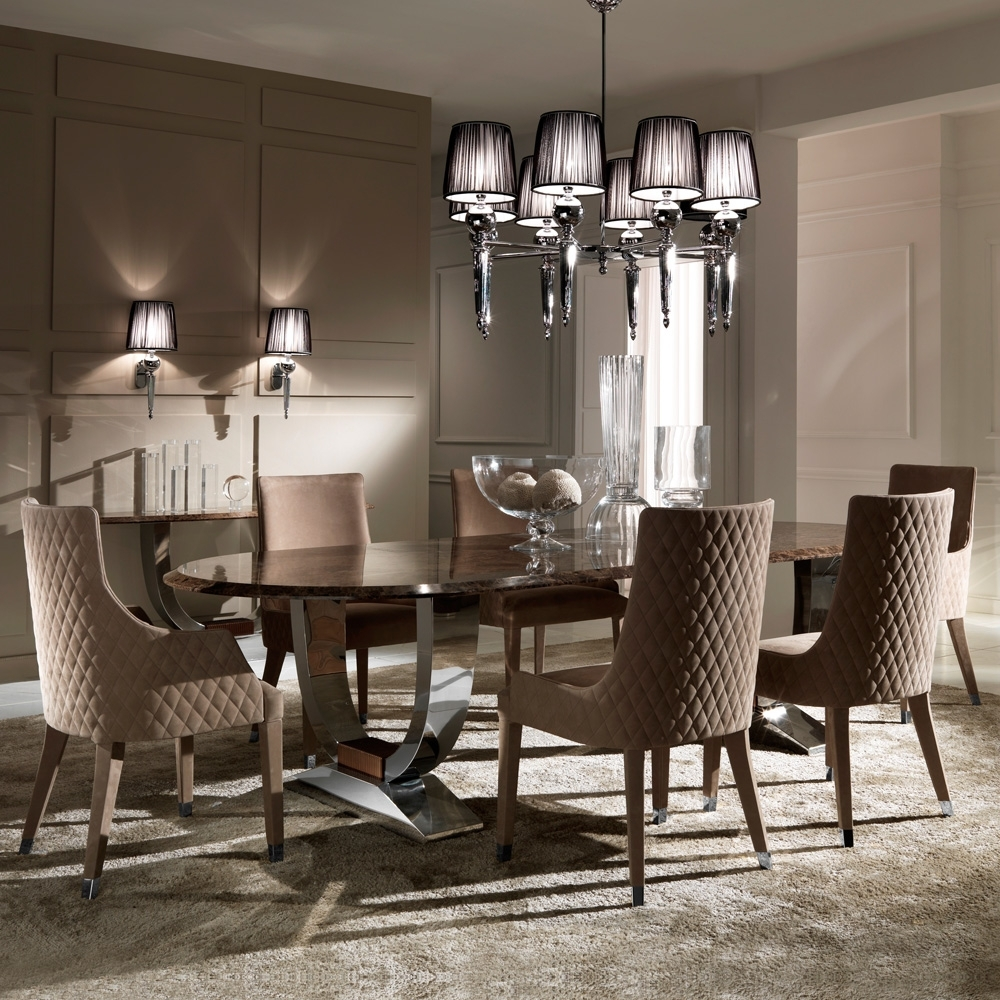Best And Newest Contemporary Quilted Nubuck Leather Italian Dining Chairs Pertaining To Quilted Black Dining Chairs (View 4 of 20)