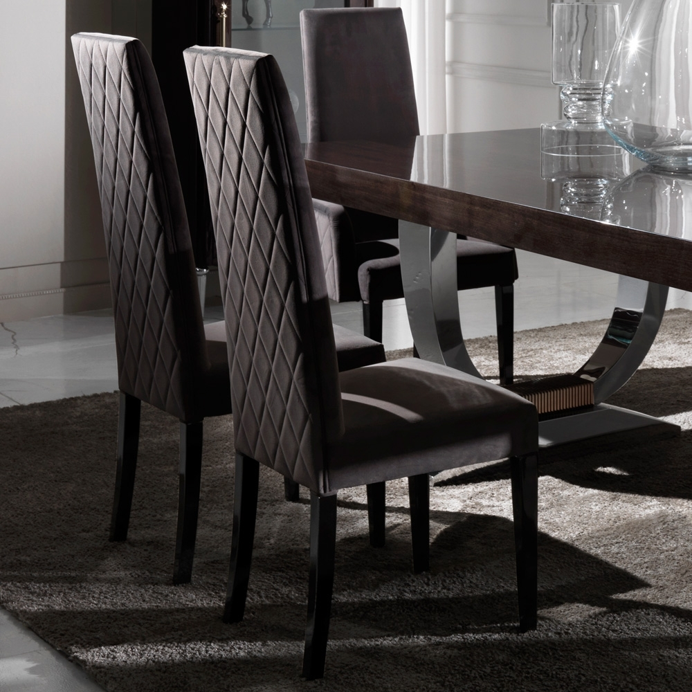 Best And Newest Designer Italian Quilted High Backed Dining Chairs (#2 of 20)
