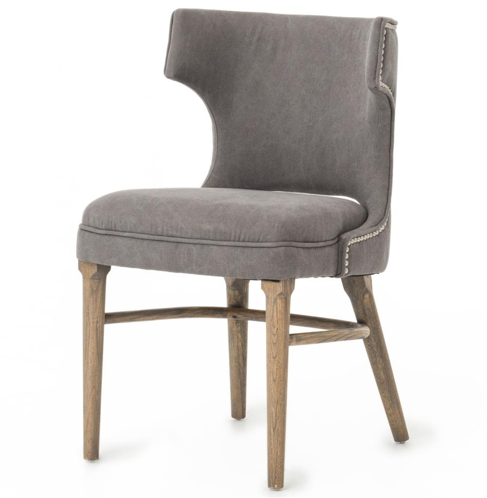 Best And Newest Greenwich Curved Back Charcoal Grey Canvas Dining Chair (#3 of 20)